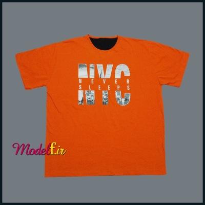 تیشرت  سایز بزرگ رنگ نارنجی