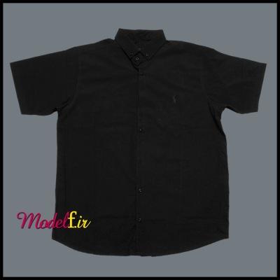 پیراهن مشکی سایز بزرگ آستین کوتاه