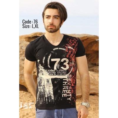 تی شرت پنبه ای کد F76