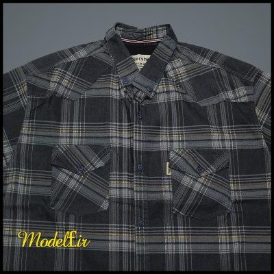 پیراهن آستین بلند دو جیب سایز بزرگ