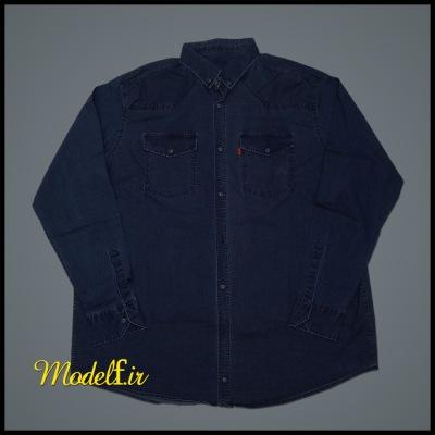 پیراهن آستین بلند جین سایز بزرگ