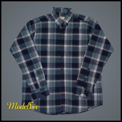 پیراهن پنبه کش سایز بزرگ چهارخونه