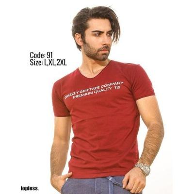 تی شرت پنبه ای کد F91