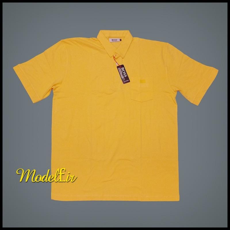 تیشرت سایز بزرگ جیب دار رنگ زرد