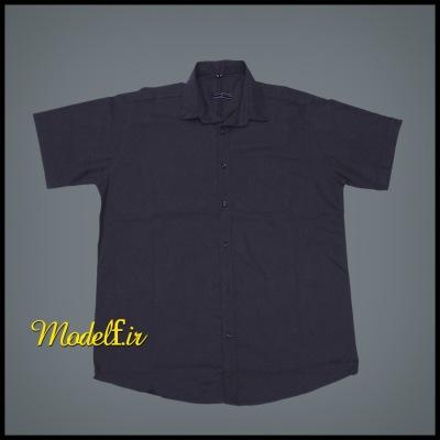 پیراهن آستین کوتاه سایز بزرگ طوسی