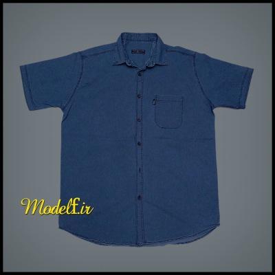 پیراهن جین آبی سایز بزرگ