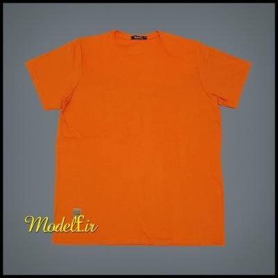 تیشرت نارنجی  ساده سایز بزرگ