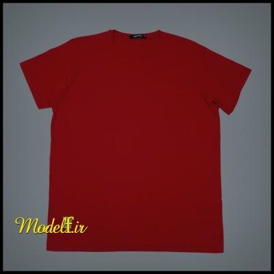 تیشرت قرمز  ساده سایز بزرگ