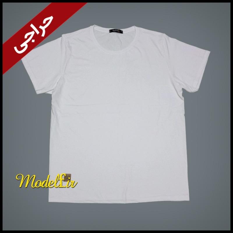 تیشرت سفید ساده 4XL
