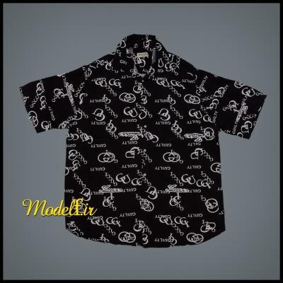 پیراهن هاوایی مشکی سایز بزرگ