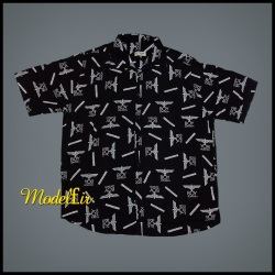 پیراهن هاوایی  سایز بزرگ طرح فروهر