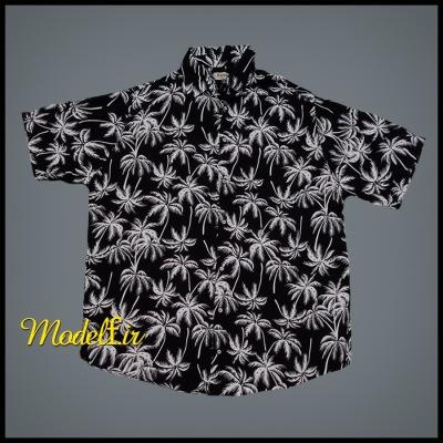 پیراهن هاوایی طرح نخل مشکی