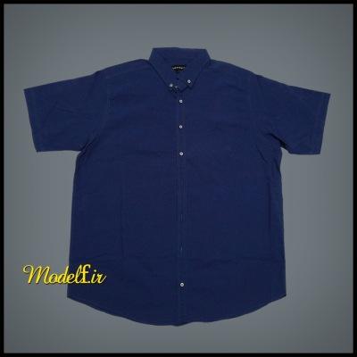 پیراهن سایز بزرگ آبی تیره