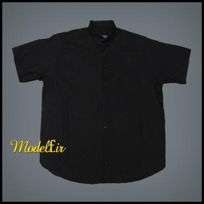 پیراهن مشکی سایز بزرگ جیب دار