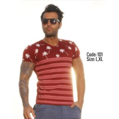 تی شرت پنبه ای ( نخی ) کد F101