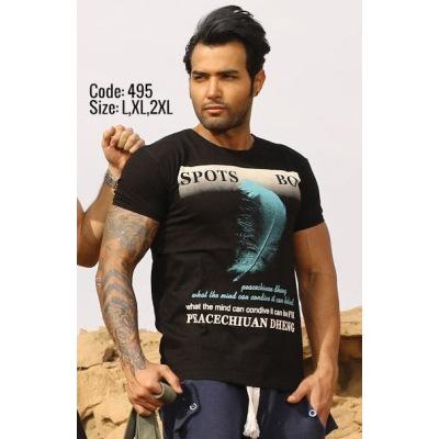 تی شرت پنبه ای ( نخی ) کد F495