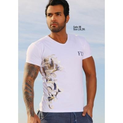 تی شرت پنبه ای ( نخی ) کد F98