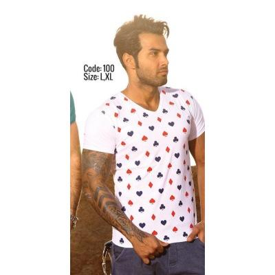 تی شرت پنبه ای ( نخی ) کد F100