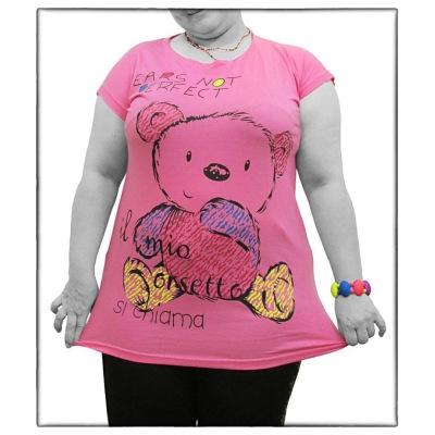 تی شرت سایز بزرگ زنانه کد TNW 5411
