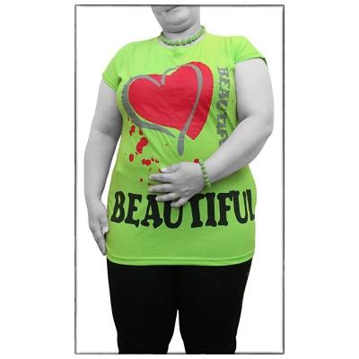 تی شرت سایز بزرگ زنانه کد TNW 5412